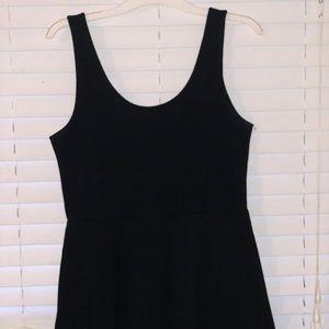 Basic Black Mini Flare H&M Dress